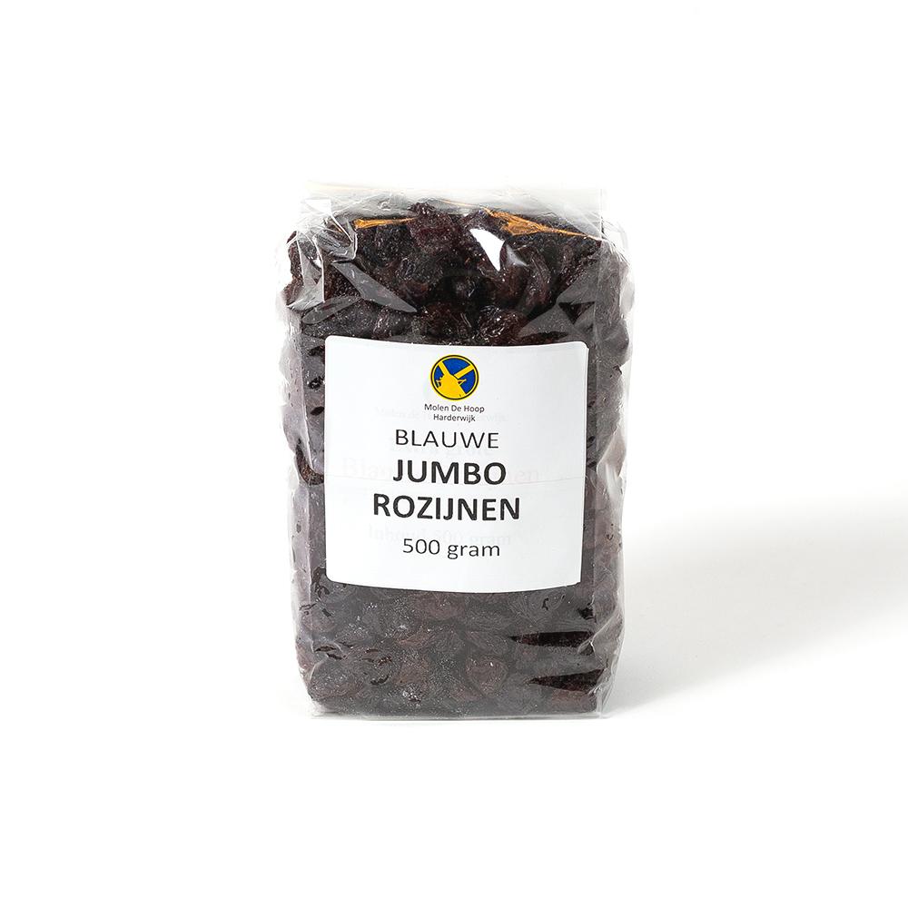 Blauwe jumbo rozijnen 500 gram