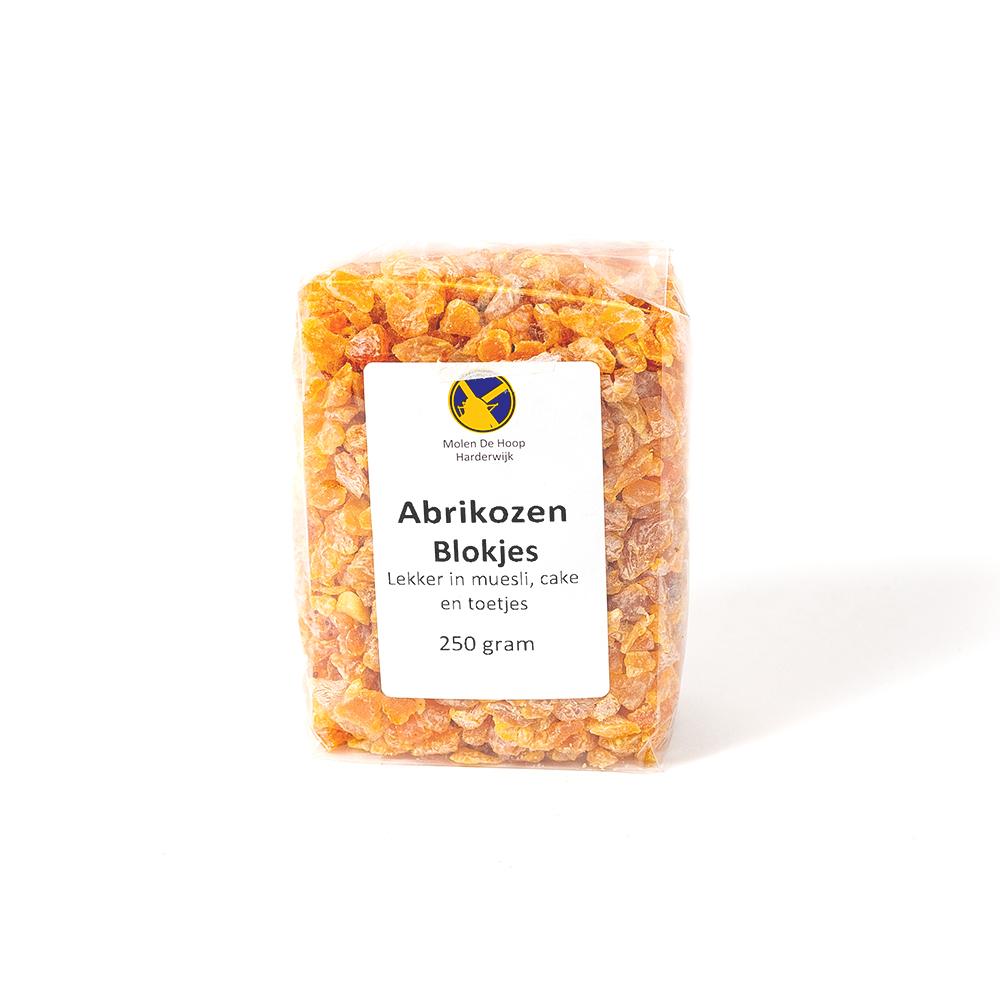 Abrikozen blokjes 250 gram