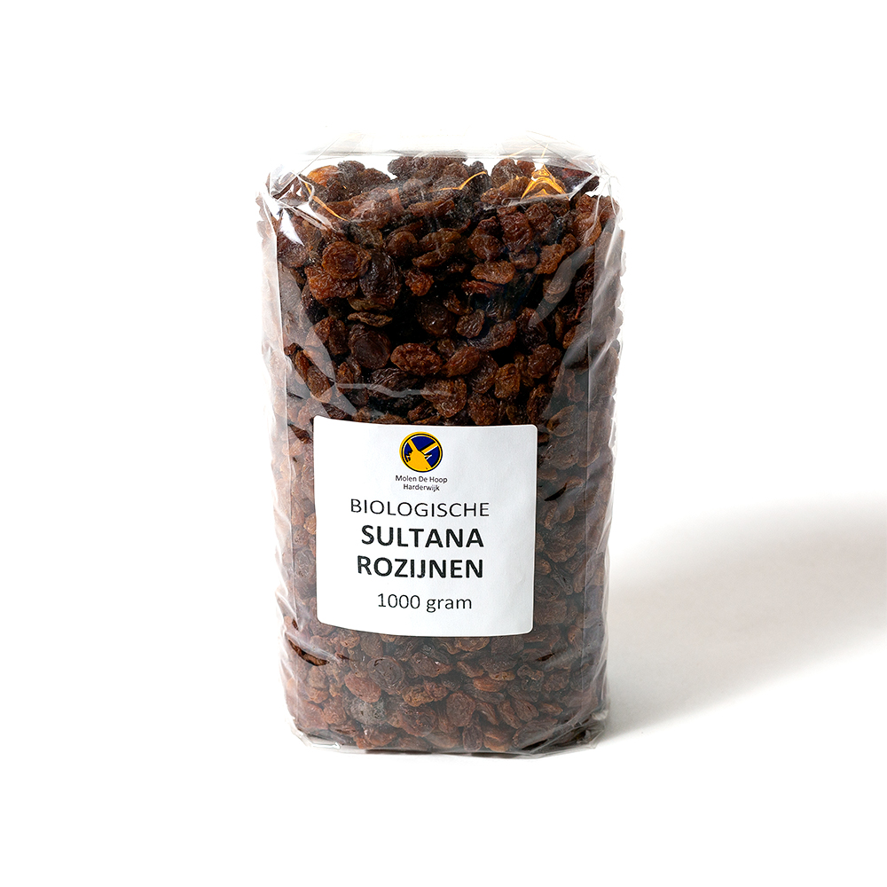 Biologische sultana rozijnen 1000 gram